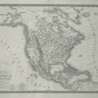North America map (in French)